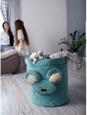 Teddy Toy basket Leaves...