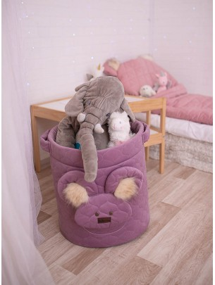 Teddy Toy basket Heather Bees