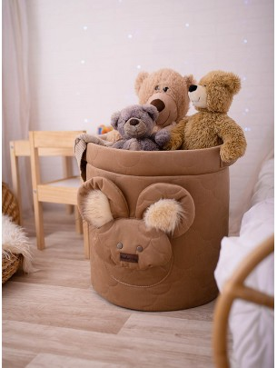 Teddy Toy basket in Clouds